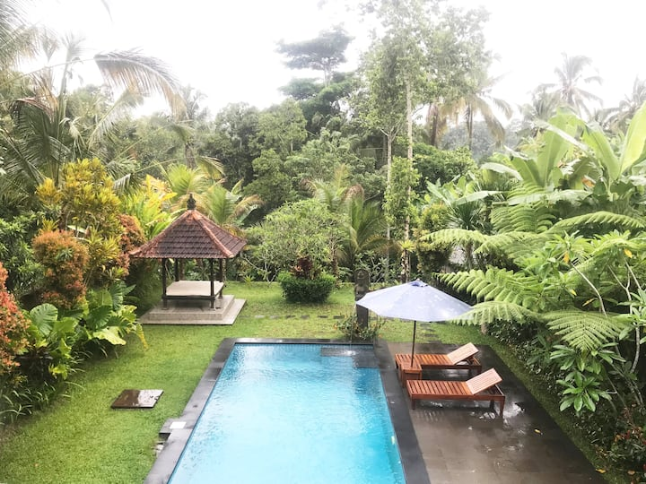2BR Villa in Ubud with Private Pool & Nature View