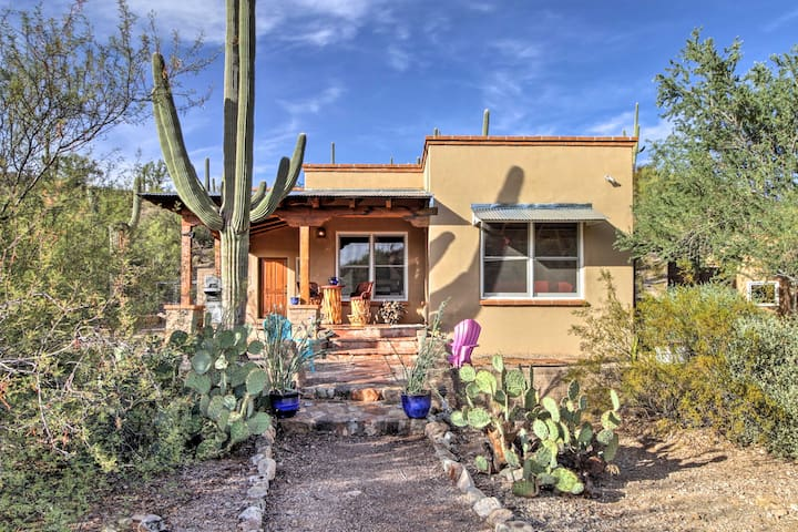 New! 'La Roca' 1BR Tucson Home w/Scenic Mtn Views!
