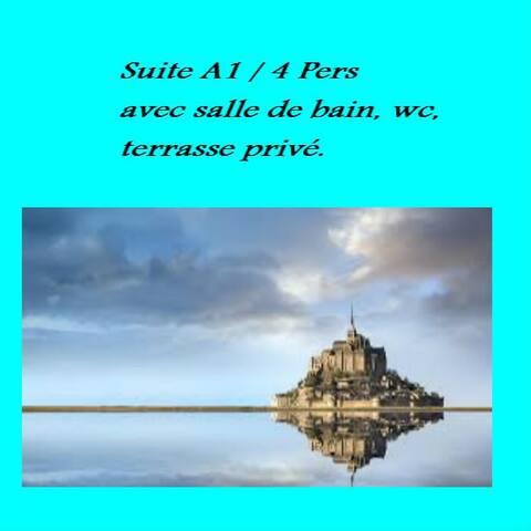 Suite A (Website hidden by Airbnb) personnes 1km du Mont ST Michel
