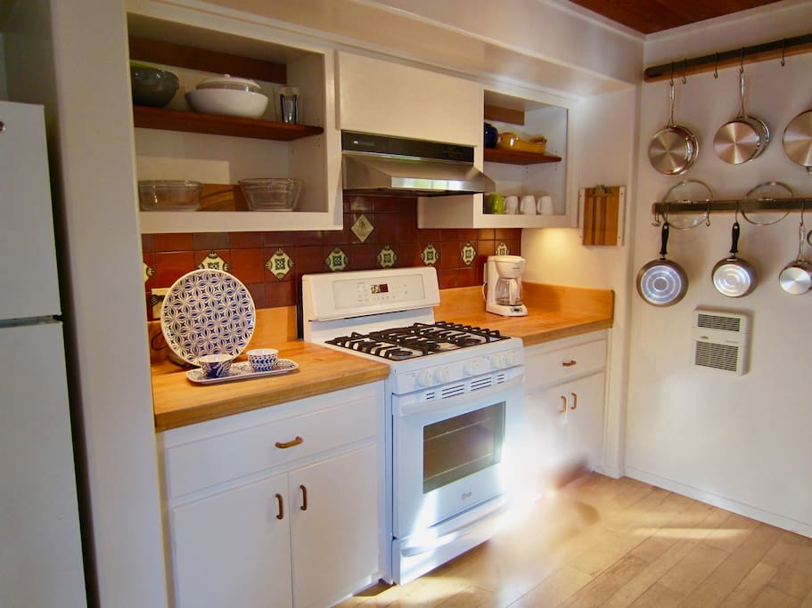 A kitchen with all the amenities for the chef in your group