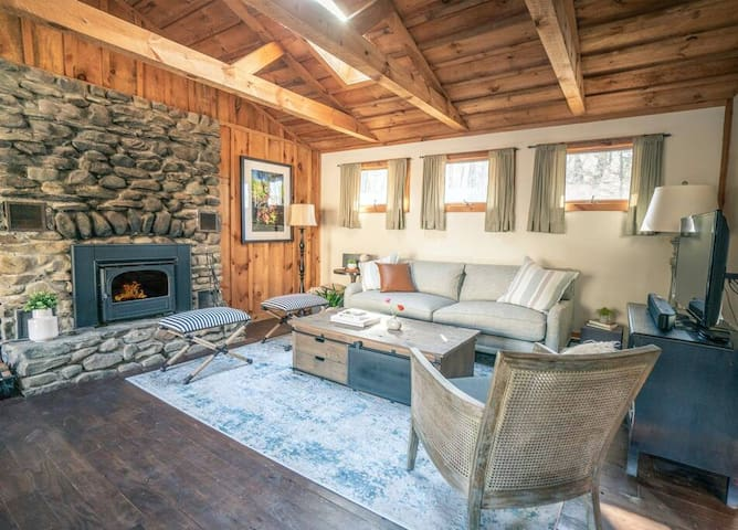 Cabin with Private Pond & Fireplace, Pet Friendly