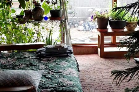 Bright. plant-filled, Sunroom in my Home - Ojo Caliente - Casa
