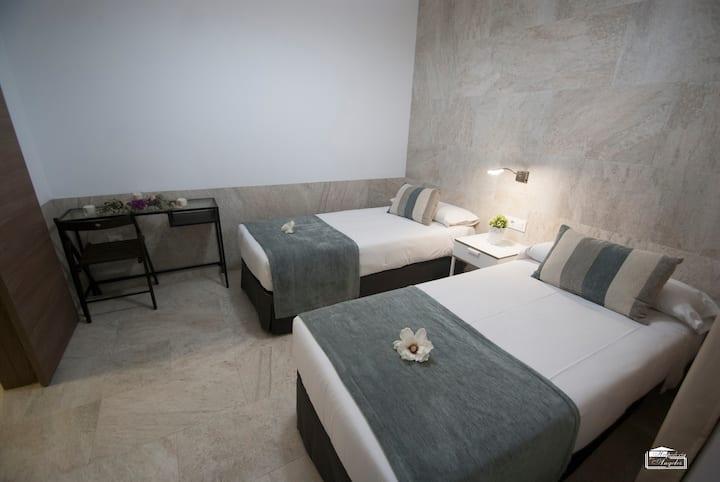 Habitación Doble - 2 camas, Hospedería Los Ángeles