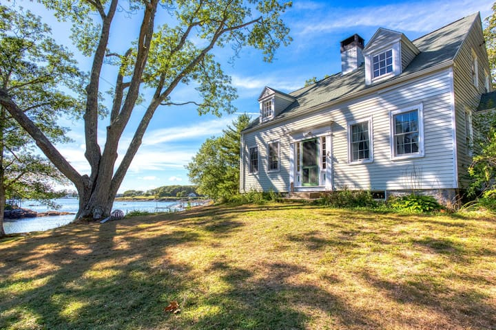 Dog-friendly oceanfront historic home w/ boathouse & private boat dock!