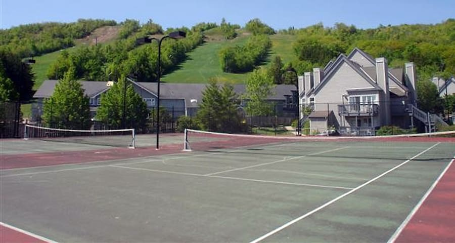 Two tennis courts on site for your use and enjoyment free of charge.