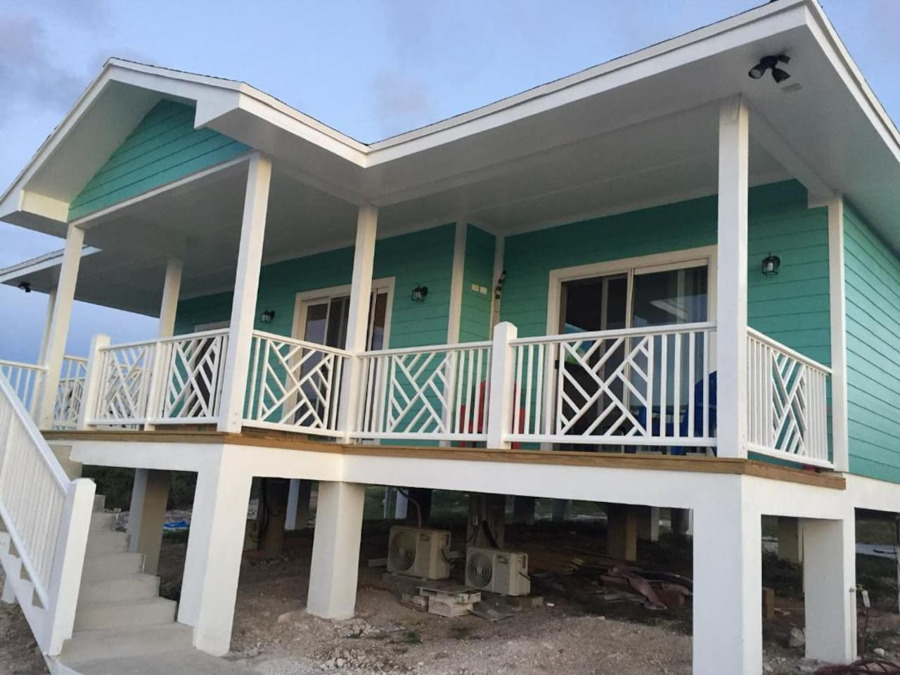 Porch that faces the Atlantic Ocean
