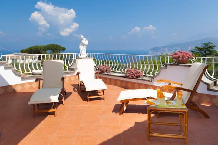 AldoinSorrento classy apartment. Terrace and views