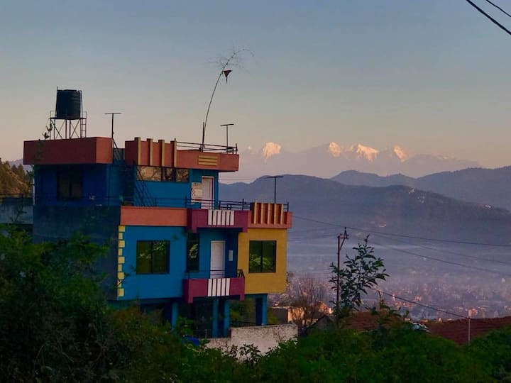 Kathmandu Room by green park & view of valley