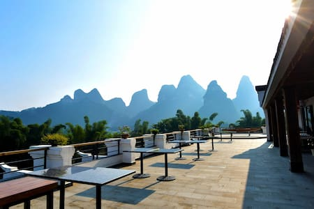 Xingping , can go into nature, play with birds - Guilin