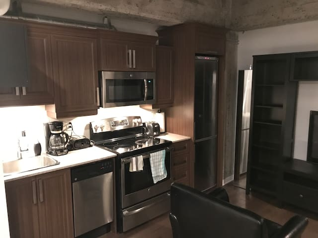 New condo downtown/entertainment district