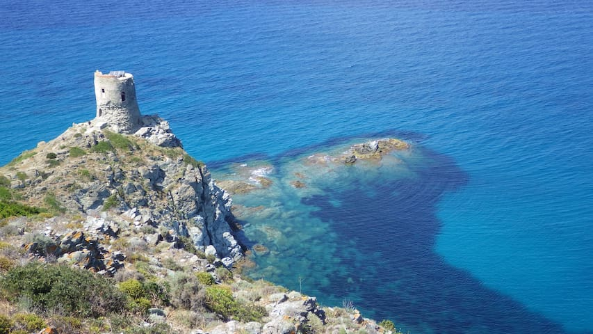 Appart Bleu Azur T2,2 terrasses,vue mer,piscine. - Saint-Florent - อพาร์ทเมนท์