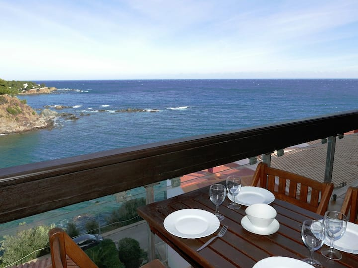 106 Location Appartement vue mer imprenable à côté de la plage avec terrasse