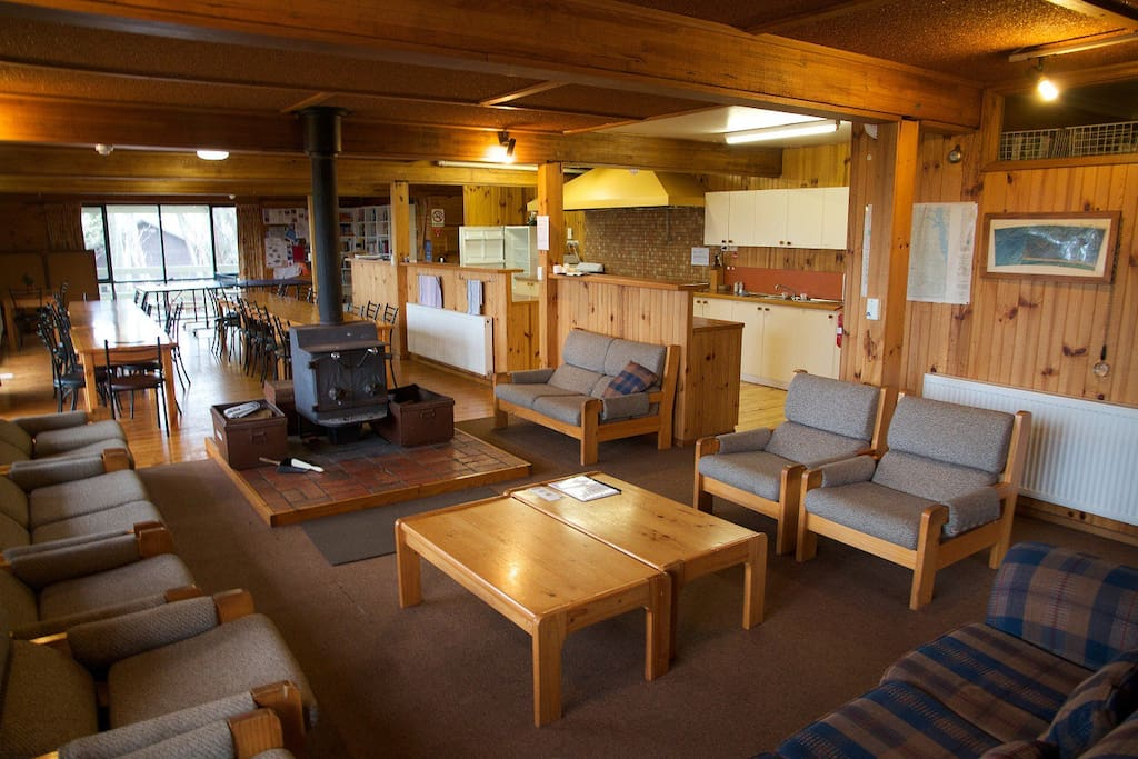 Edski Lodge Lounge Fireplace