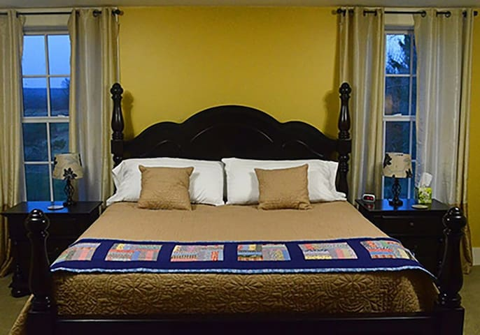 The Steward House B&B - Gold (King bed with private bath in a very large room)