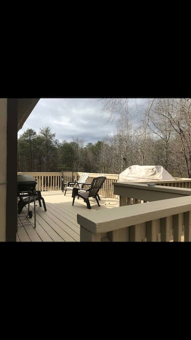 Deck with great views and grill.