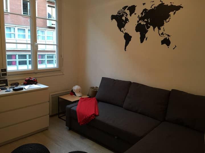 Studio situé dans le centre historique de Rouen