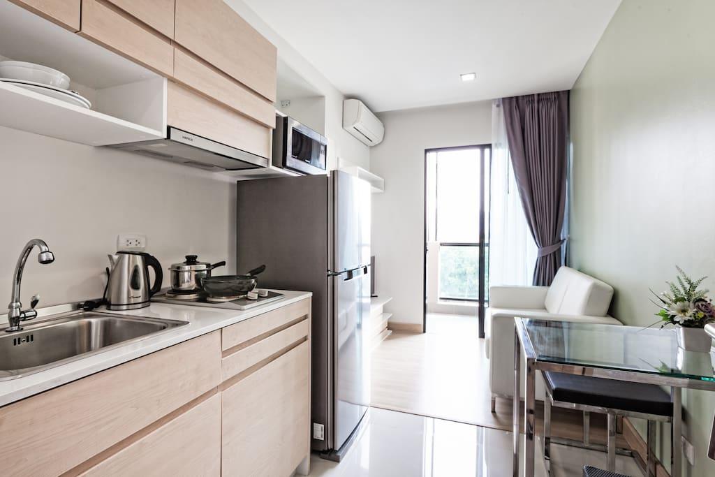 Livingroom-kitchen studio