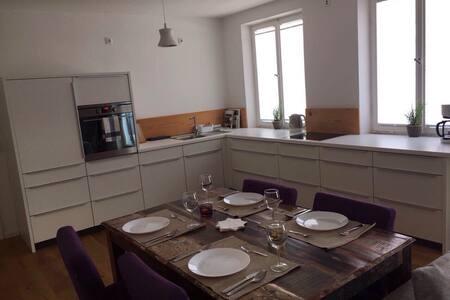 Gemütliche Wohnung mit Kamin und Dachterrasse!!! - Augsburg - Wohnung