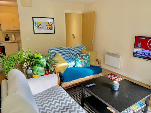 Spacious 2 bedroom flat near the train station