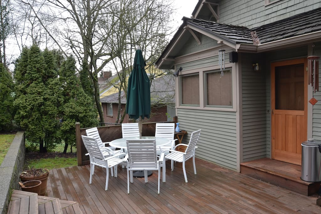 You will have a private parking space in the back of our house and cross the deck to reach your private entrance.