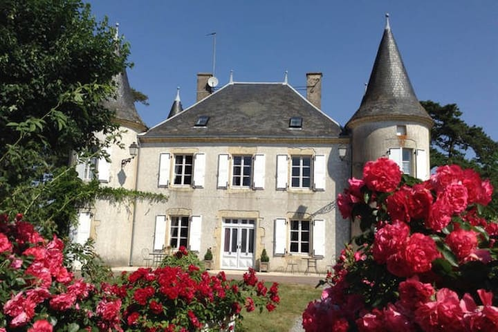 4 Double orTwin Bedded rooms in a Château - Le Chillou - Bed & Breakfast