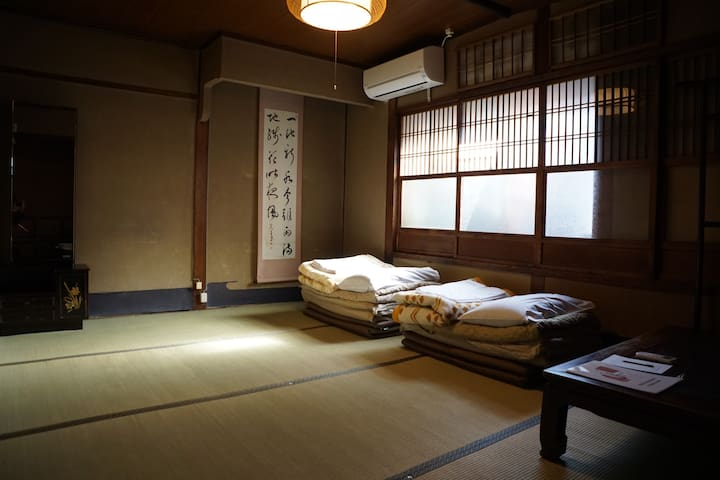 Twin room in Japanese antique house