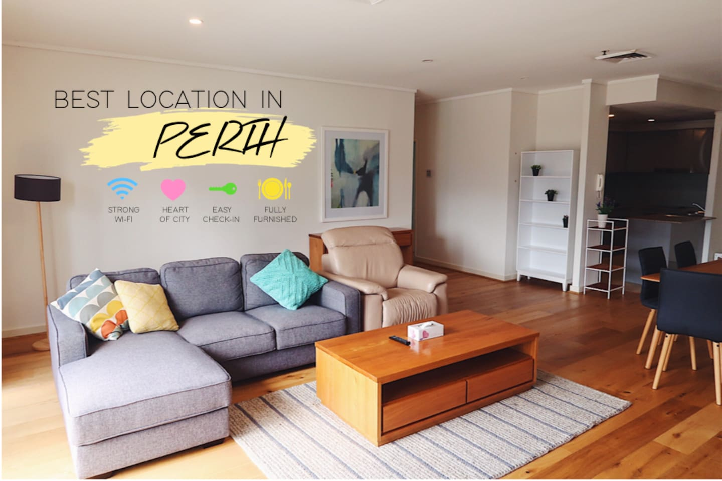 Stay in the Best AIRBNB in Perth CBD!