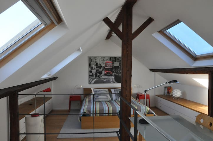 Sunny large bedroom in the trendy area of Ixelles - Ixelles - Maison