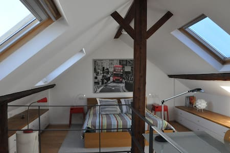 Sunny large bedroom in the trendy area of Ixelles - Ixelles - Casa
