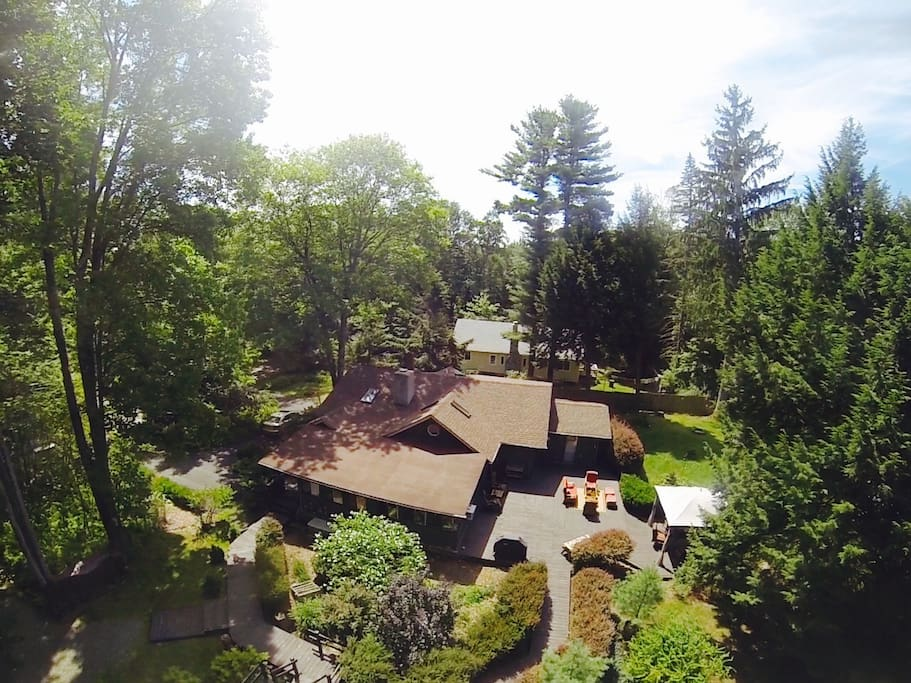 Hawk-eye view of the property.