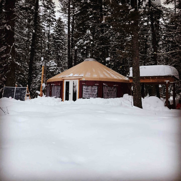 YurtBurt next to Tamarack Resort