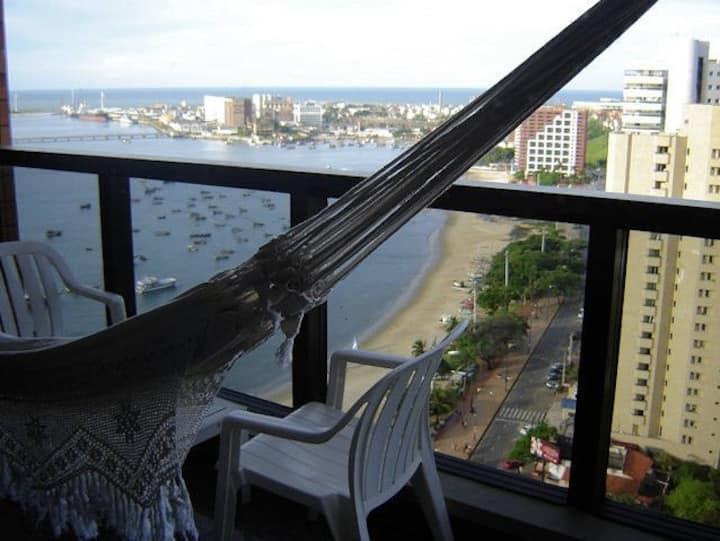 Vista mar espetacular na Beira Mar - Flat 2201