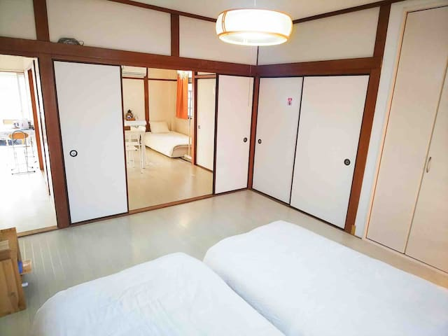 5large cozy room near subway,  5min-USJ/1min-namba