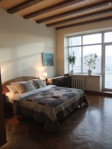 Master bedroom has direct access to the balcony