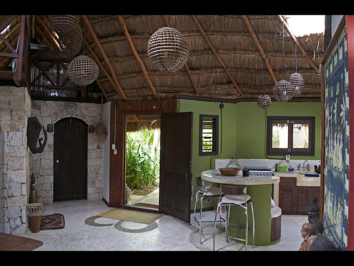 Espectacular Cabaña,3 cuartos y piscina privada!