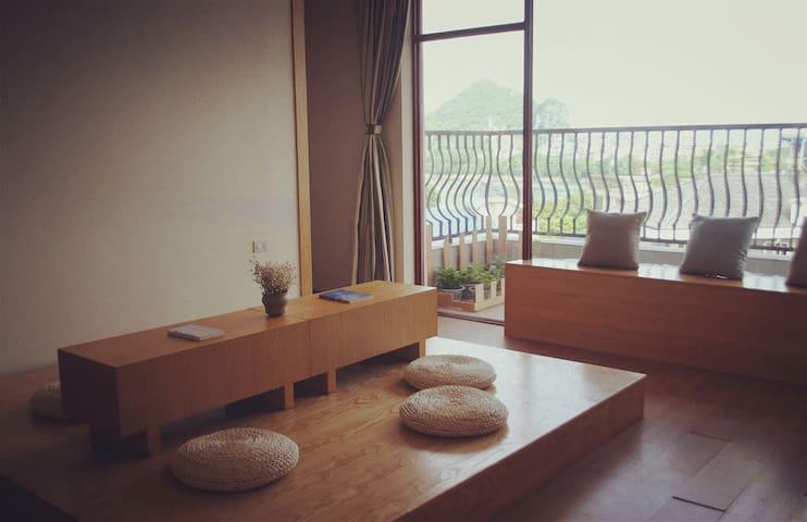 白鸟:漓江边可看漓江、山景的安静旅舍标间(双床间) - Guilin - Apartment