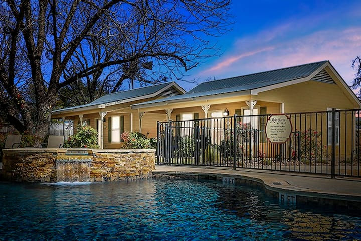 Main Street Retreat Away from it all suite | King Bed | Shared Hot Tub/Pool