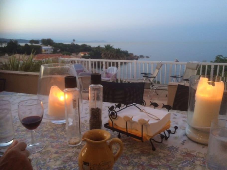 Relaxing terraces