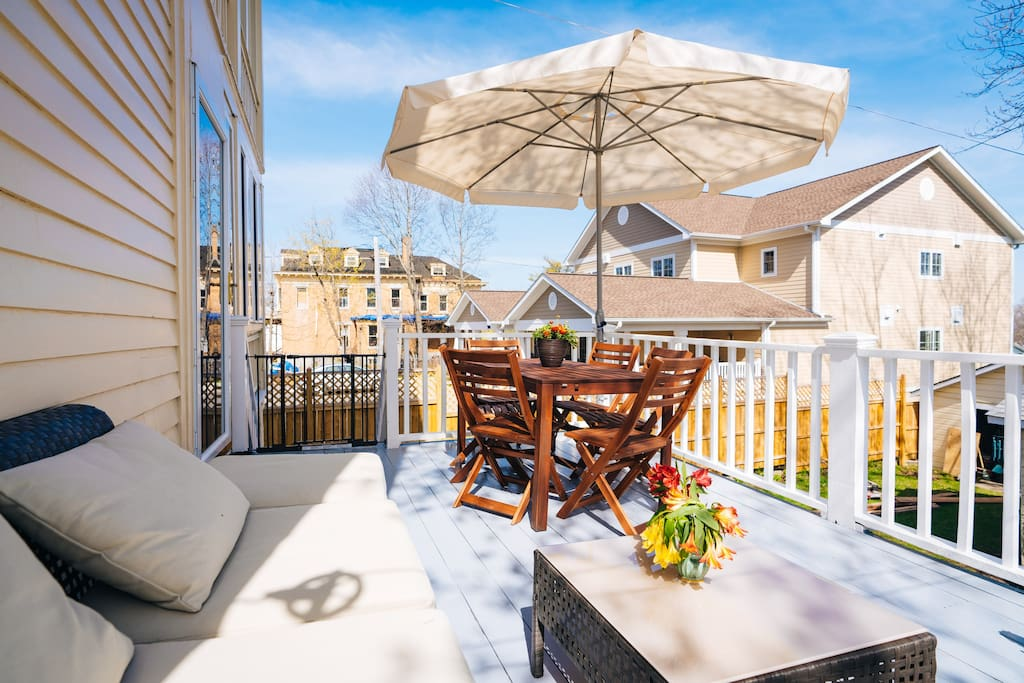 Everyone loves this back deck for total relax and outdoor living
