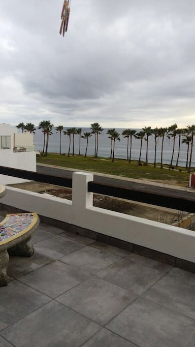 Terrace to private beach