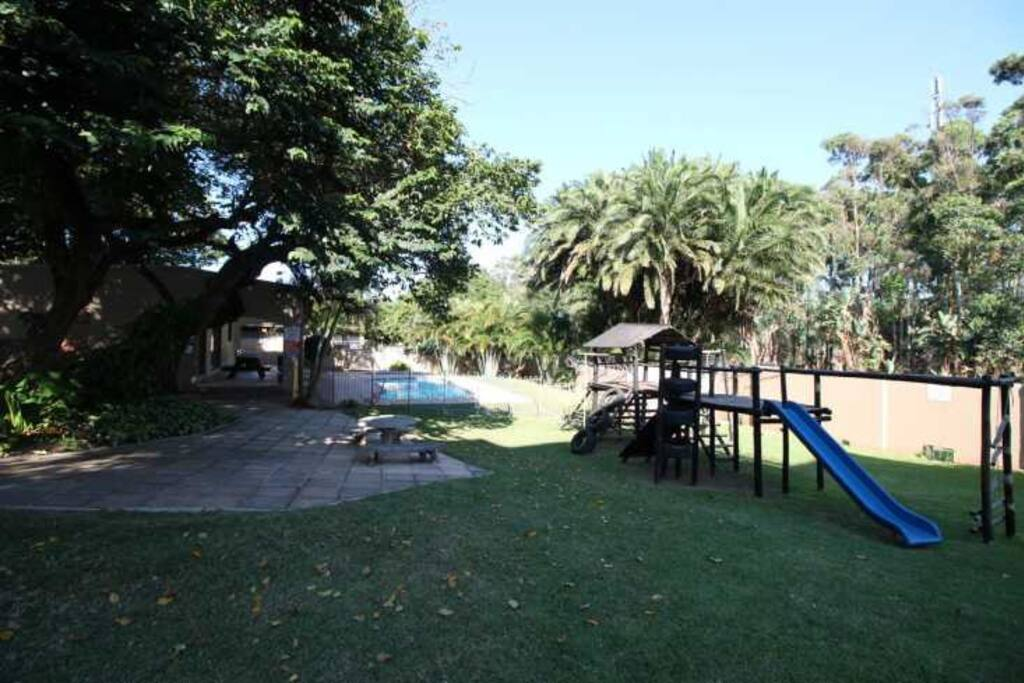 Communal area. Braai area, kids play area, club house and 2 swimming pools.