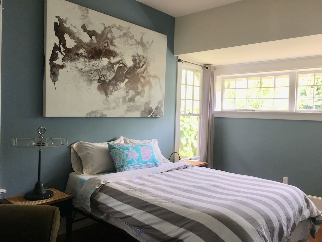 Super comfy double bed in the master bedroom