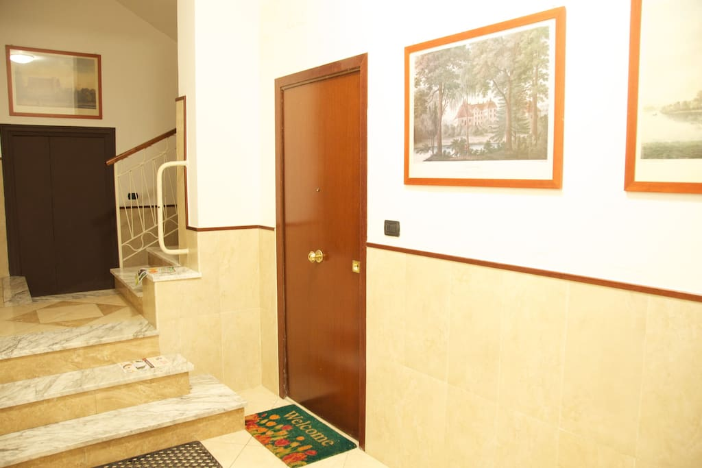 Entrance to the first floor apartment.