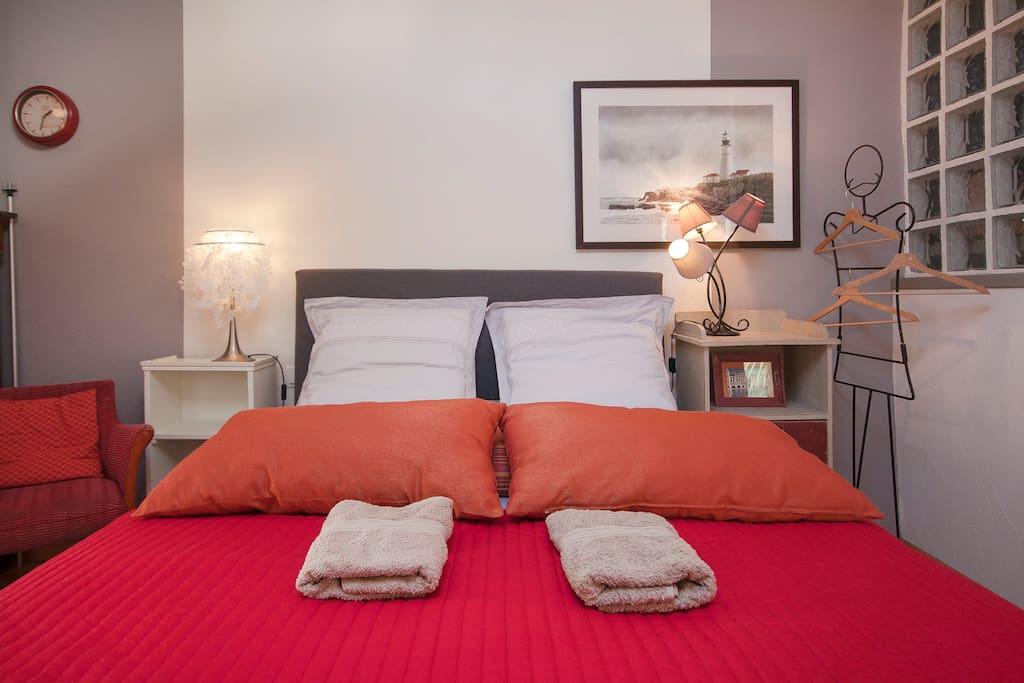 chambre ind pendante et lumineuse en centre ville chambres d 39 h tes louer brest bretagne. Black Bedroom Furniture Sets. Home Design Ideas