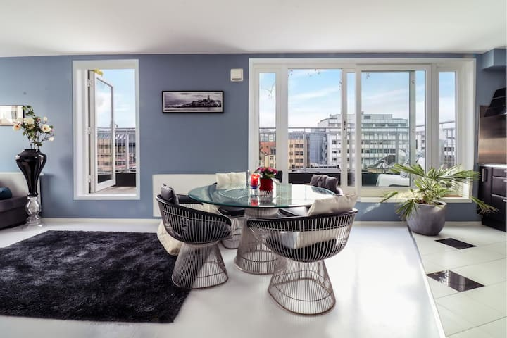 Penthouse downtown Oslo with large terrace!