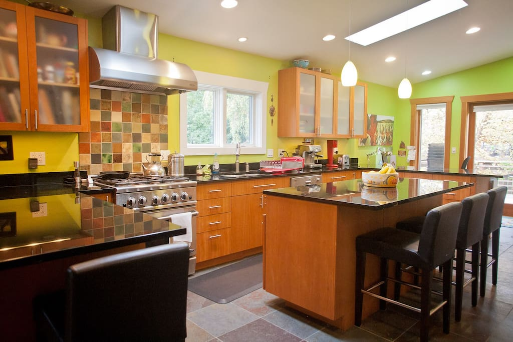 Fully stocked modern kitchen