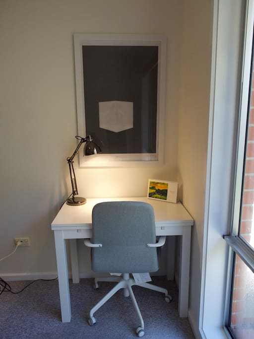 Study desk (that can be expanded if you're doing serious work!)