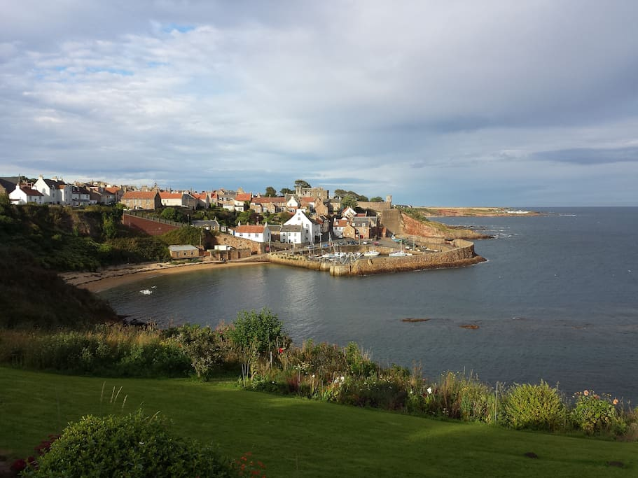 Crail harbour 8 minutes walking