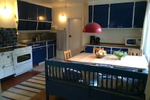 Kitchen. Floor 1. Wooden stove+electric stove, dishwasher