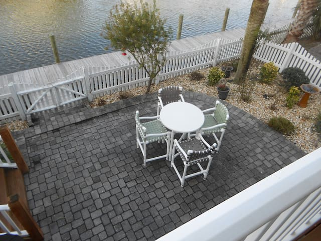Back Patio on Canal